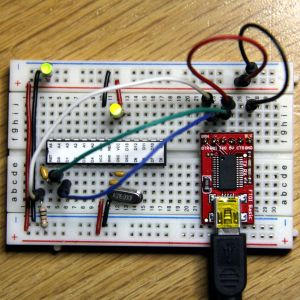 Arduino on breadboard with FTDI Basic Breakout